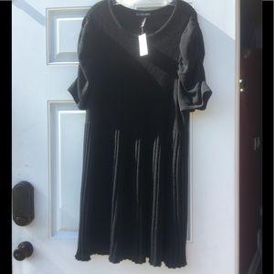 Lane Bryant Black Sweater Dress size 26/28